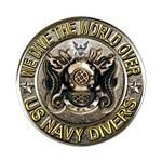US Navy Diver Metal