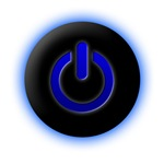 Blue Computer Power Icon