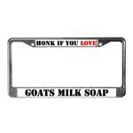 Soapmaking License Plate Frames