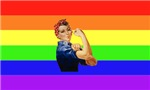 Rainbow Rosie Riveter T-Shirts & Gifts