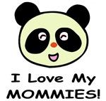 I Love My Mommies (Panda) Baby Wear & Gifts