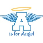 A is for Angel (blue)