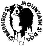 Standing Bernese Mountain Dog 02 B&W