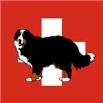 Standing Bernese Mountain Dog (Swiss)01