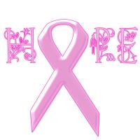 Breast Cancer Pink Ribbon Hope