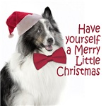 Blue Merle Sheltie Christmas