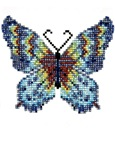 Intricate Hand-Beaded Butterfly