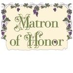Matron of Honor Vineyard T-Shirts