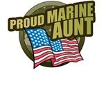 Marine Aunt T-Shirts