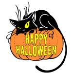 Happy Halloween Cat T-Shirts and Gifts