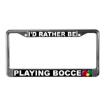 Bocce License Plate Frames