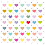 Colorful Little Hearts T-Shirts