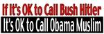 If You Call Bush Hitler