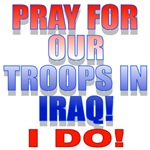 Pray For Our Troops Red and Blue