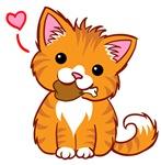 Orange Kitty Love