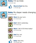 Baby Facebook Wall