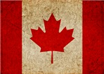 Faded Canadian Flag