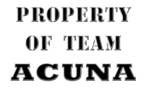 Property of Team Acuna