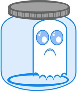 Cute Ghost In A Jar