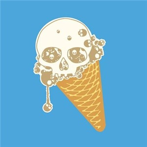 Cute Skull Ice Cream