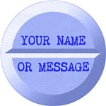 Personalized Pill Graphic Blue