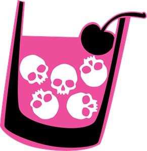 Pink Skull Cocktail