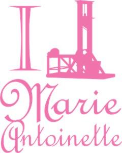 I Guillotine Marie Antoinette Pink