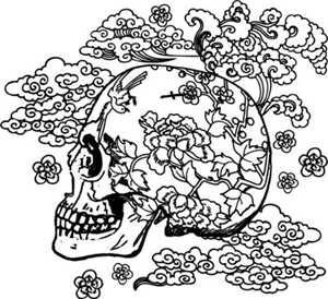 Skull With Blossoms