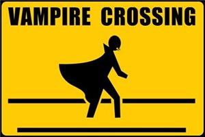 Vampire Crossing Sign