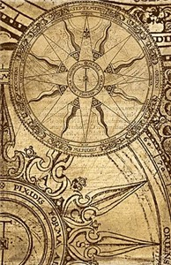 Vintage Compass Rose Collage