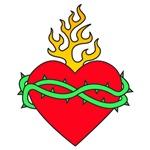 Flaming Sacred Heart