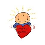 Happy Birthday - Cute Cartoon Heart
