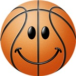 Basketball Smiley Face