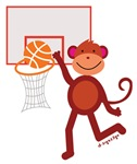 Monkey at Basketball - Slam Dunk
