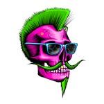 Hipster Skull Pink