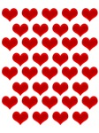 Satin Heart Grid