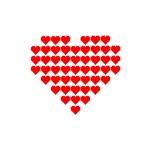 Pixel Heart Grid