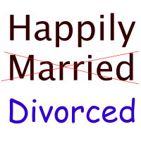 Happily Married/divorced
