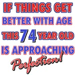 Funny 74th Birthday designs