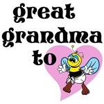 Heart Great Gandma To Bee