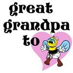 Heart Great Gandpa To Bee