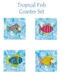Tropical Fish Coaster Set