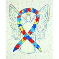 Puzzle Awareness Ribbon Angel