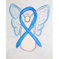 Light Blue Awareness Ribbon Angel