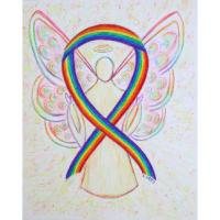 Rainbow Awareness Ribbon Angel
