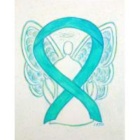 Teal Awareness Ribbon Angel