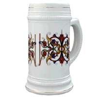 Gold Trimmed Steins