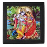 Hindu Ceramic Tile Boxes (Black or Mahogany)