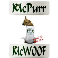 Irish & Celtic Pet Bowls & Tees!