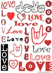Love Words and Hearts